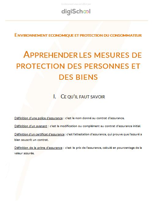 Apprehender Les Mesures De Protection Des Personnes Et Des Biens