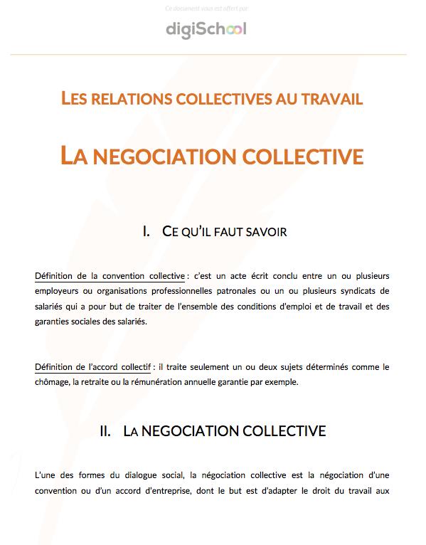 Negociation Collective 1ere Pro Eco Droit