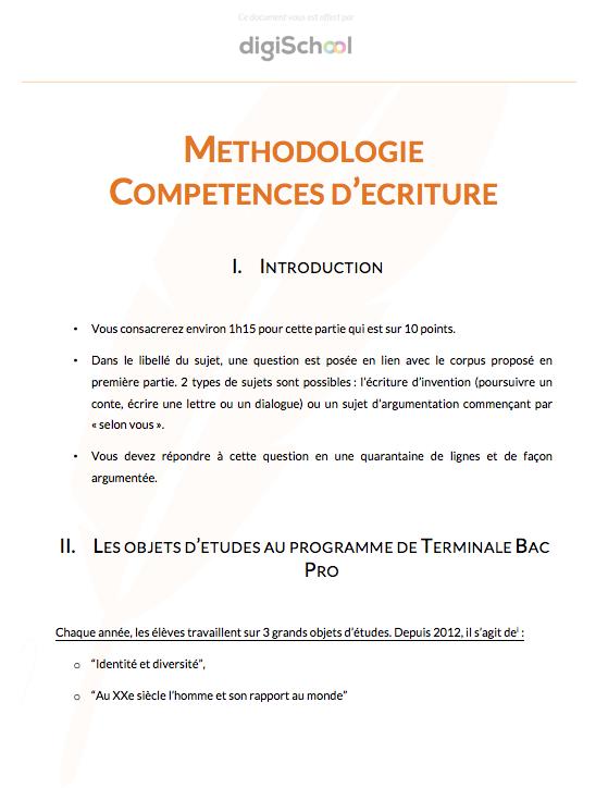 Documents et cours gratuits bac pro - Fiche bilan de competences bac pro cuisine ...
