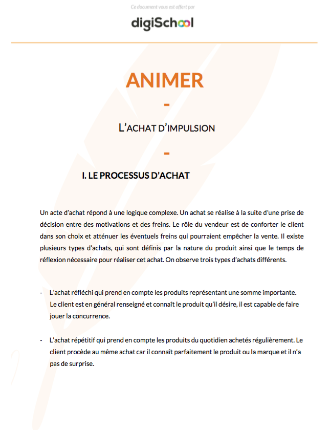 Animer : L'achat d'impulsion - Bac Pro Commerce - Terminale