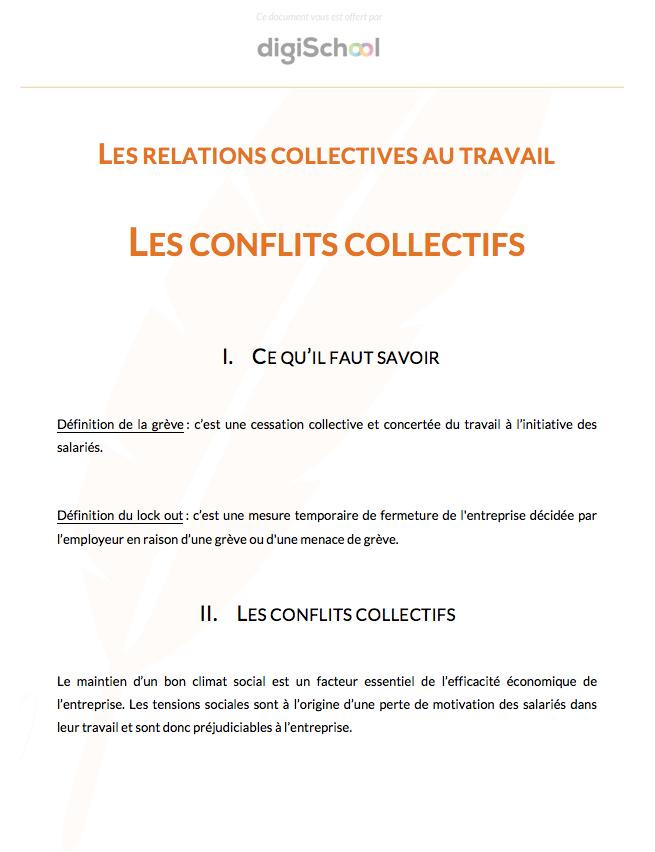 328a1f4755a Les relations collectives au travail   Les conflits collectifs - Eco Droit  - Première Pro