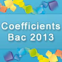 Coefficients du Bac PRO 2013