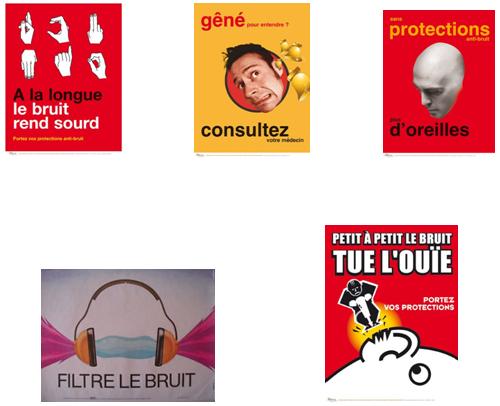 Affiches contre le bruit, INRS - Cours PSE gratuit BAC PRO