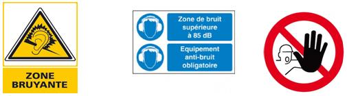 Panneau signalisation zone bruyante - Cours PSE gratuit Bac PRO