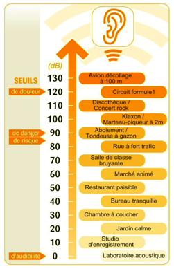 Se protéger du bruit : Seuils du niveau sonore - Cours PSE gratuit