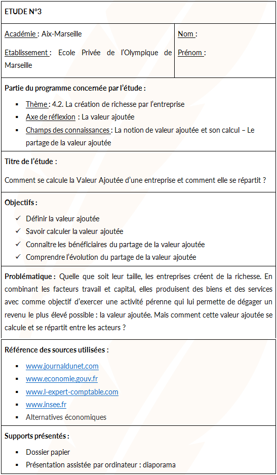 dossier espagnol bac pro commerce