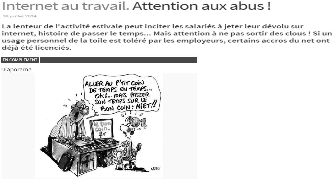 Internet au travail, attention aux abus - Sujet Zero d'éco droit - Bac PRO 2016