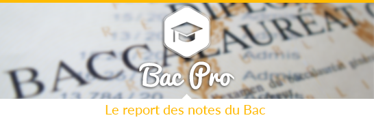 Report des notes : Bac Pro 2017