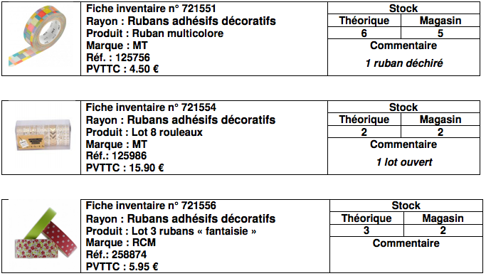 Sujet e2 librairie madison bac pro 2017 for Rubans adhesifs decoratifs